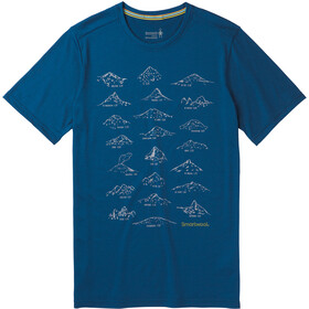 Smartwool Merino Sport 150 Prominent Peaks Tee Men Alpine Blue